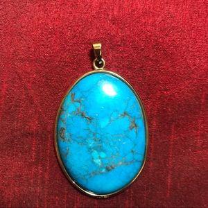 BlueTurquoise Pendant Charm Necklace